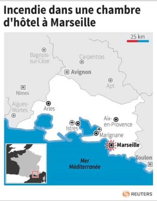 Deux morts dans l 39 incendie d 39 une chambre d 39 h tel marseille for Chambre d hotel marseille