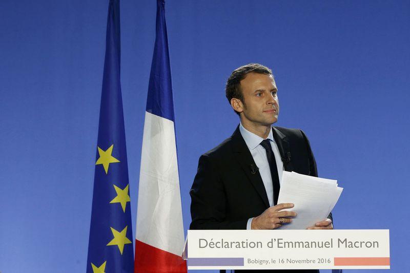 Les réactions à la candidature de Macron à la présidentielle
