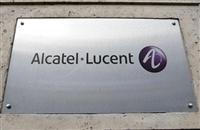 Alcatel-Lucent logo plaque