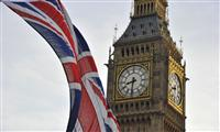 Londres, Big Ben, Royaume-Uni drapeau