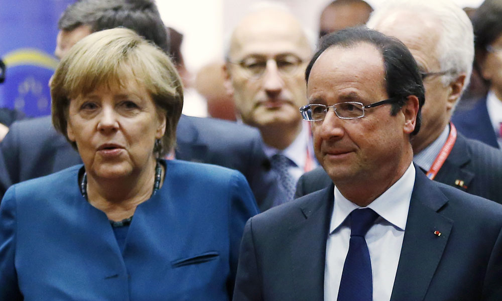 hollande et merkel tentent de ranimer la flamme du couple franco allemand. Black Bedroom Furniture Sets. Home Design Ideas