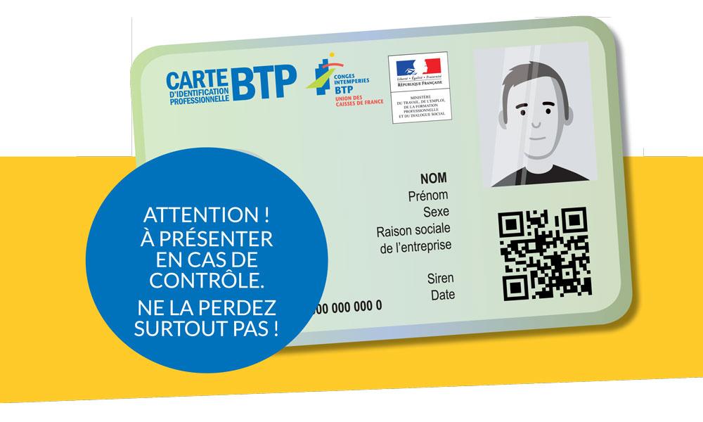 La première carte du BTP est imprimée — Travail illégal
